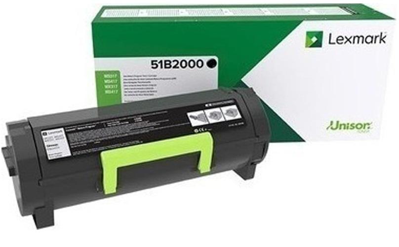 Toner Lexmark 51B2000 Black 2.5K Pgs (51B2000)