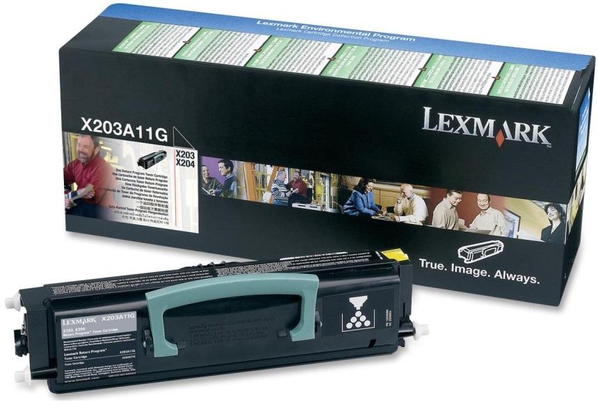 Toner Lexmark X203A11G Black 2.5K Pgs (X203A11G)