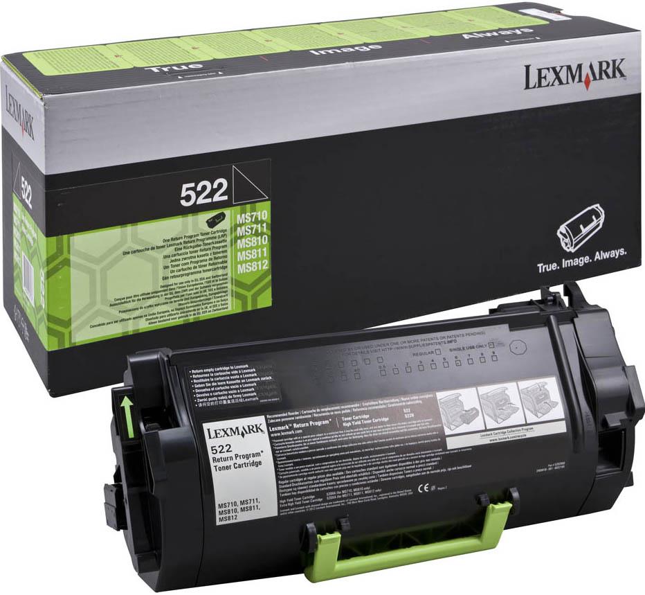 Toner Lexmark 522 Black 6K Pgs (52D2000)