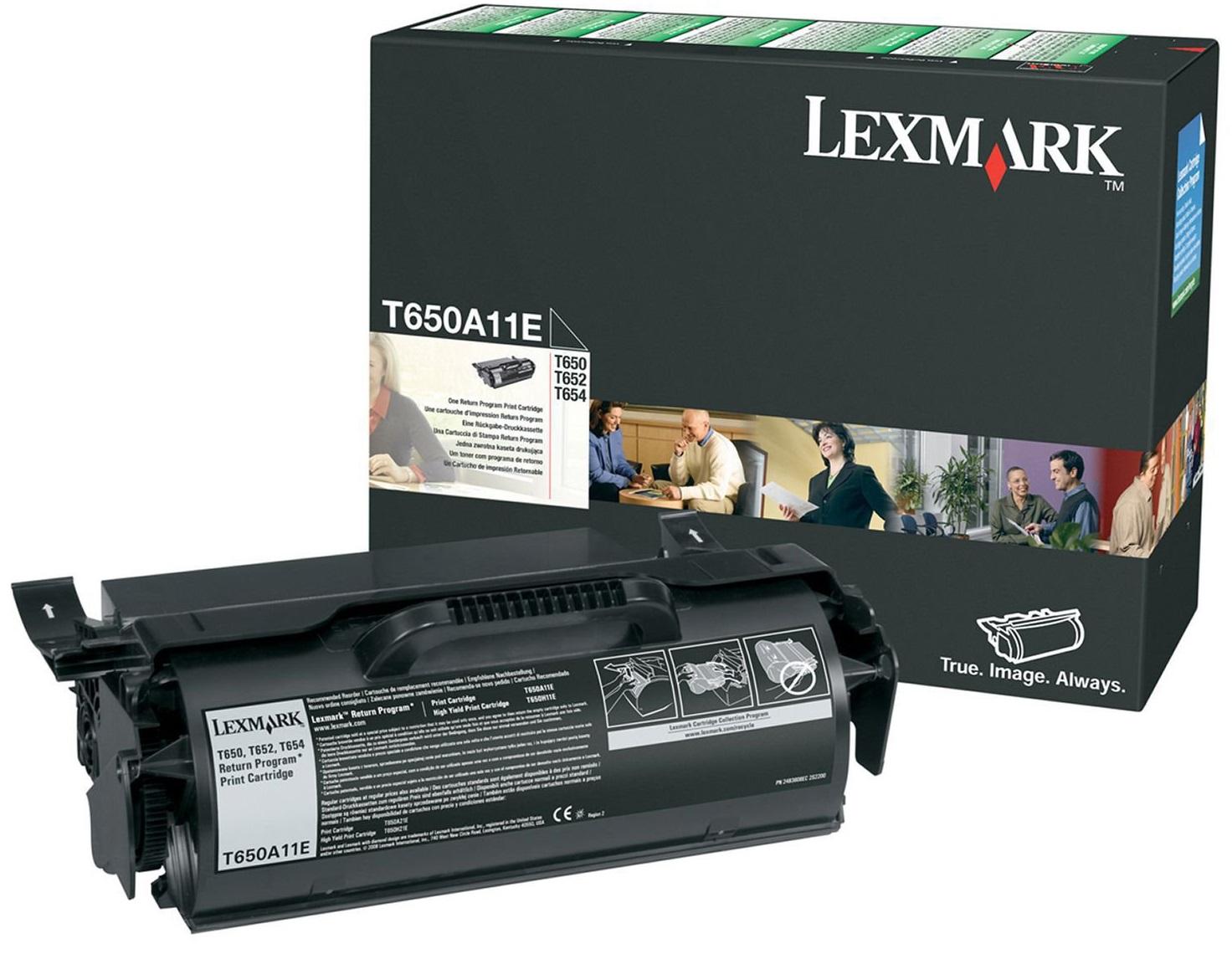 Toner Lexmark T650A11E Black 7K Pgs (T650A11E)