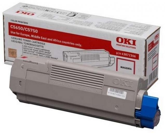 Toner Oki C5650/C5750 Magenta 2K Pgs (43872306)