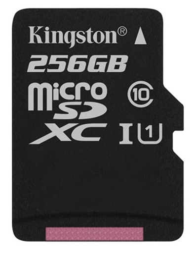 Kingston Micro SDXC Κάρτα Μνήμης 256GB Class 10 UHS-1 με SD adapter (SDCS2/256GB)
