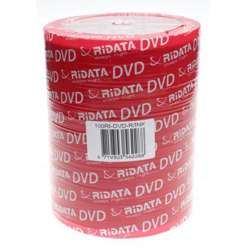 Ridata F.F Printable DVD-R 47 GB/120 min 16x 100 Τεμ.σε Ζελατίνα