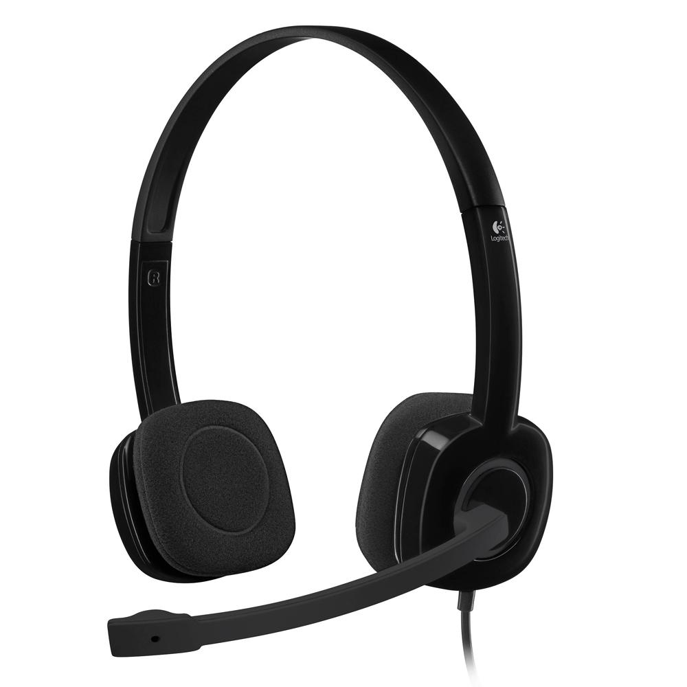 Logitech H151 Headset Black (981-000589)