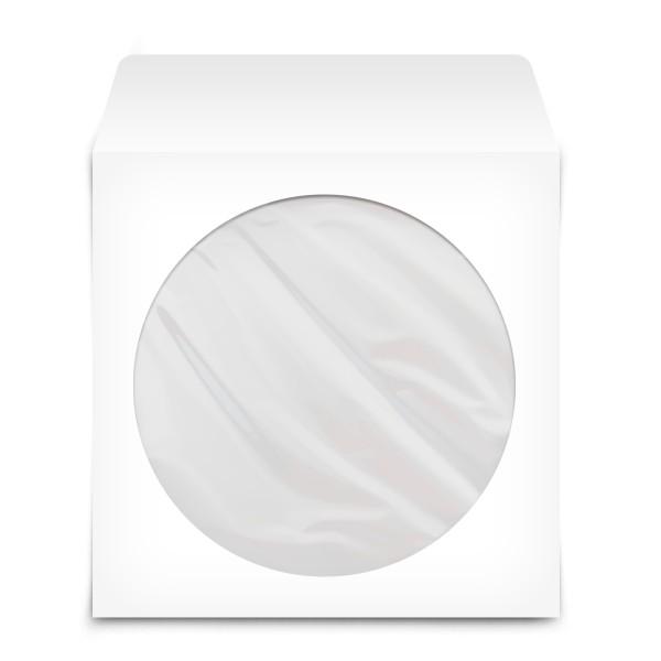 Θήκη CD/DVD Χάρτινη Λευκή με παράθυρο 100 Τεμ