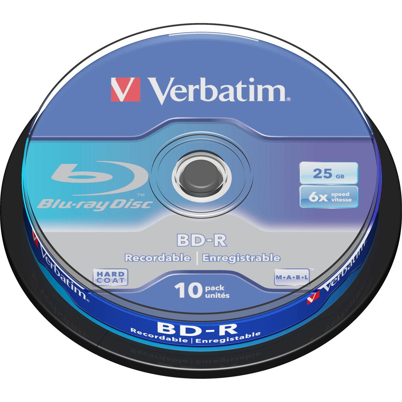 Verbatim Blu-ray Disc BD-R 25GB 6x 10 Τεμ.σε Κωρίνα