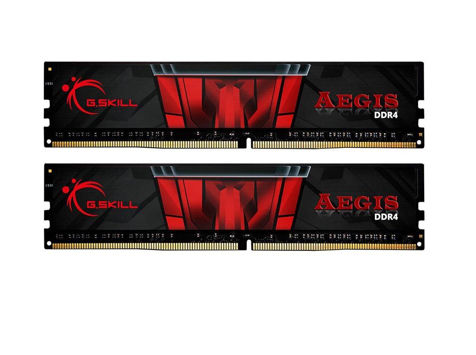 Μνήμη RAM G.Skill Aegis 32GB Kit (2x16GB) DDR4 3000MHz C16 (F4-3000C16D-32GISB)