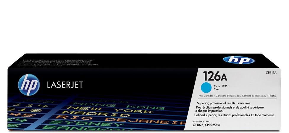 Toner HP 126A Cyan 1K Pgs (CE311A)