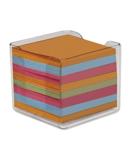 OfficeSpot Χρωματιστά Χαρτάκια Σημειώσεων Σε Πλαστική Θήκη 90 X 90mm